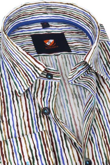 Suitable Overhemd Inked Stripes Multicolour