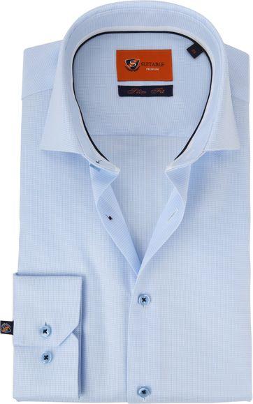 Suitable Overhemd Lichtblauw WS