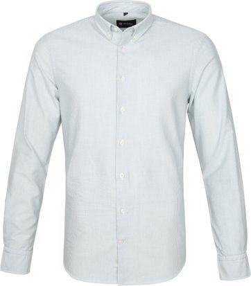 Suitable Overhemd Max Strepen Donkergroen