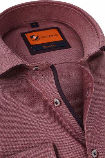 Suitable Overhemd Mouline Bordeaux