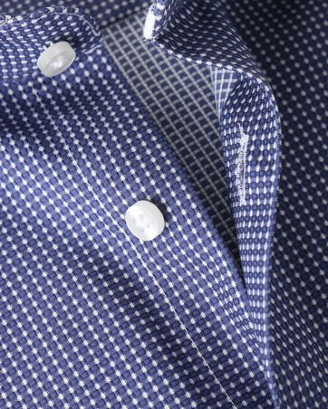 Detail Suitable Overhemd Navy Checks Dot