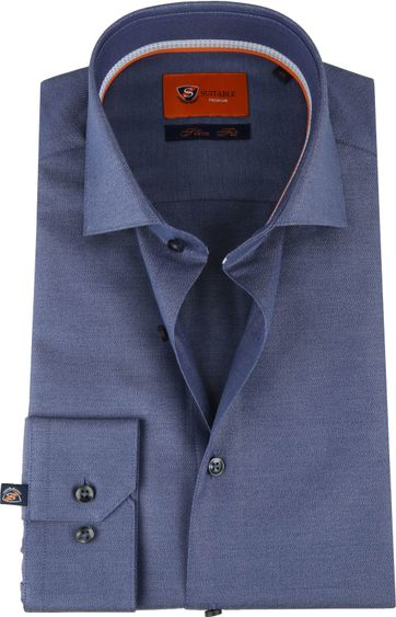 Suitable Overhemd Navy Slim Fit
