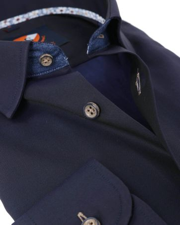 Detail Suitable Overhemd Navy Twill
