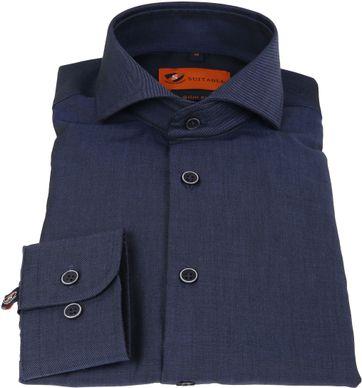Suitable Overhemd Non Iron Navy Twill