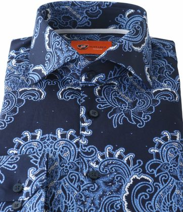 Detail Suitable Overhemd Paisley Print Royal