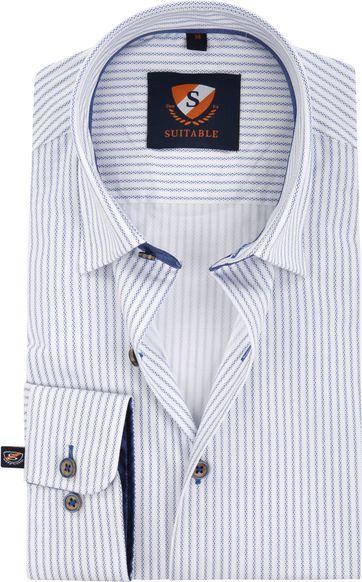 Suitable Overhemd Print Stripe