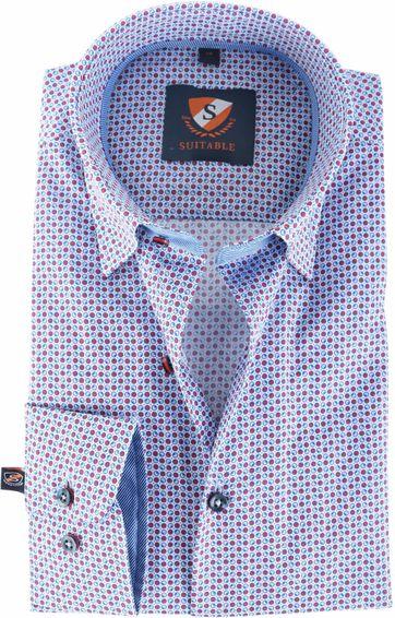 Suitable Overhemd Rood Blauw 145-7