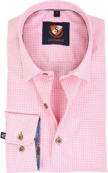 Roze Overhemd.Suitable Overhemd Roze Ruit 181 6 181 6 Hbd Pink Online Bestellen