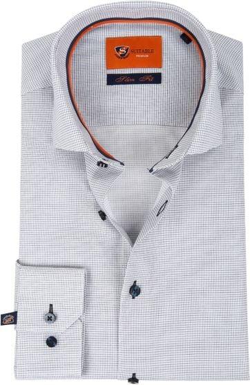 Suitable Overhemd Ruit Navy D81-08