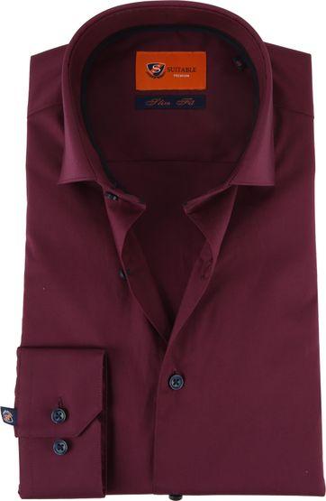 Bordeaux Overhemd.Suitable Overhemd Sf Bordeaux D82 12 Online Bestellen Suitable