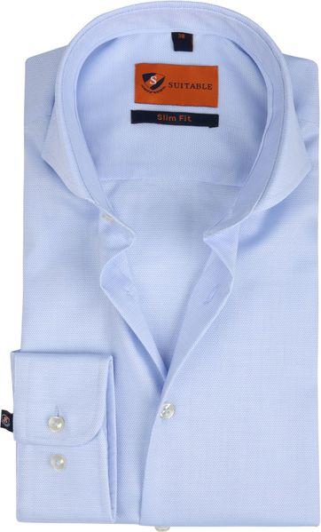 Suitable Overhemd SF Dessin Lichtblauw