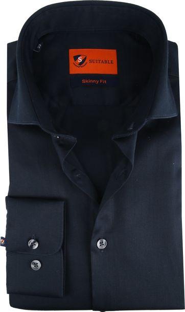 Suitable Overhemd Skinny-Fit Navy