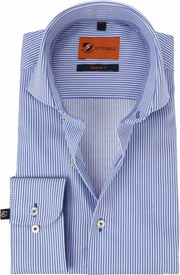 Suitable Overhemd SL7 Streep Blauw