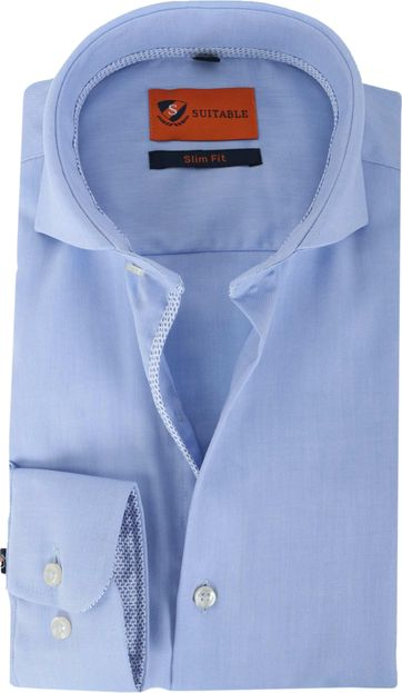 Suitable Overhemd Strijkvrij Blauw 135-2