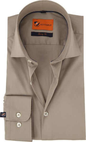 Suitable Overhemd Uni Khaki
