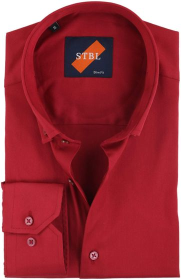Suitable Overhemd Uni Rood