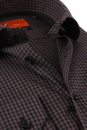 Suitable Overhemd Vichy Ruit Bruin