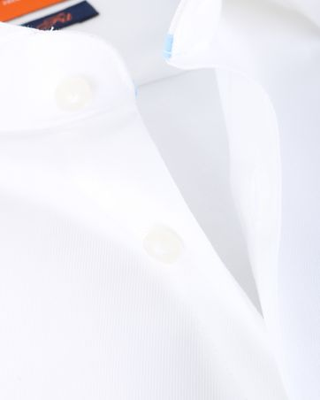 Detail Suitable Overhemd White Twill Dubbelmanchet