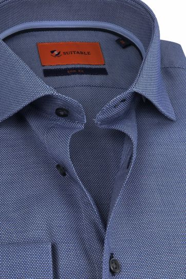 Suitable Overhemd WS Print Navy