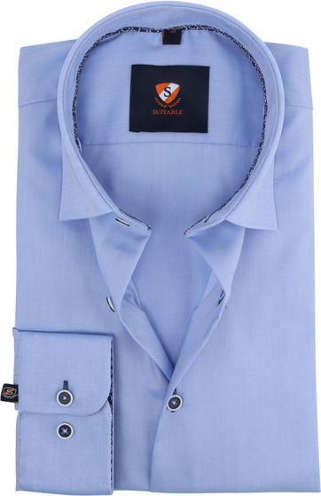 Suitable Oxford Hemd Blau
