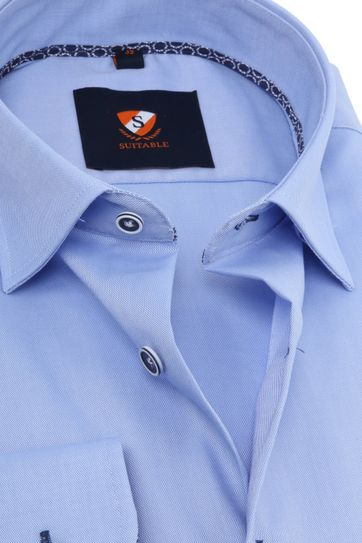 Suitable Oxford Hemd Blau
