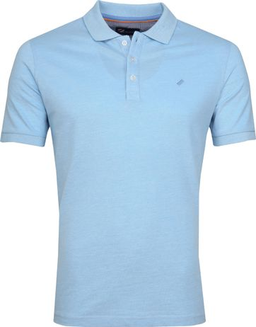 Suitable Oxford Polo Blauw