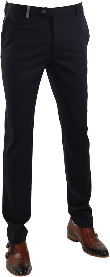 Suitable Pantalon Milano Donkerblauw