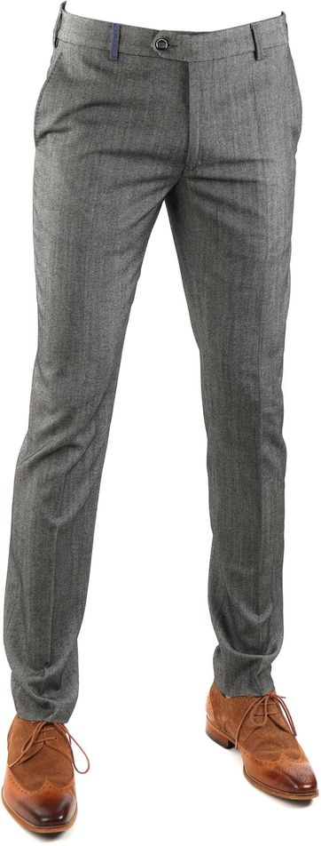 Detail Suitable Pantalon Milano Grijs