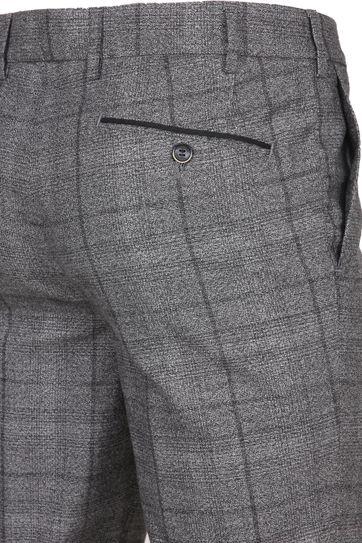 Suitable Pantalon Milano Karo Grau