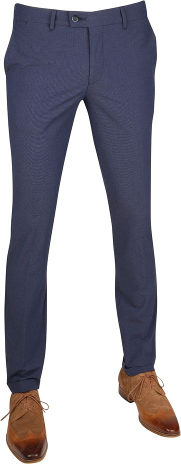 Suitable Pantalon Pisa Dessin Blauw