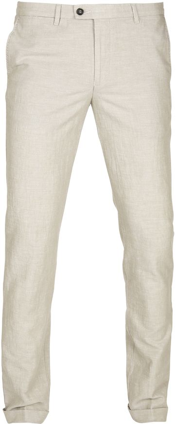 Suitable Pantalon Pisa Leinen Kamel