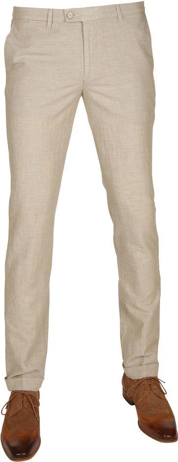 Suitable Pantalon Pisa Leinen Kamel