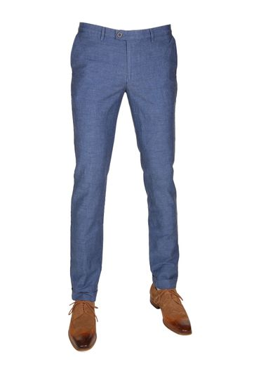 Suitable Pantalon Pisa Linen Indigo