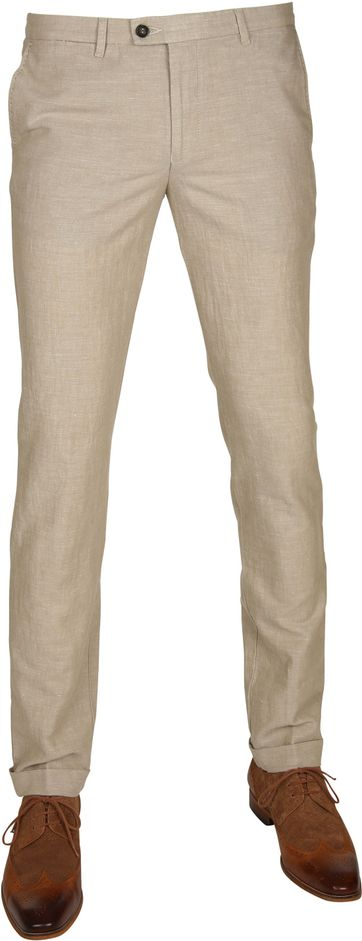 Suitable Pantalon Pisa Linnen Camel