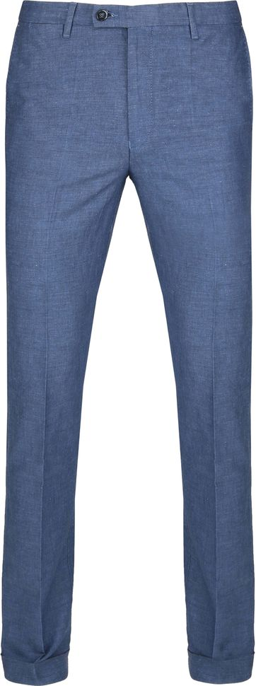 Suitable Pantalon Pisa Melange Blau
