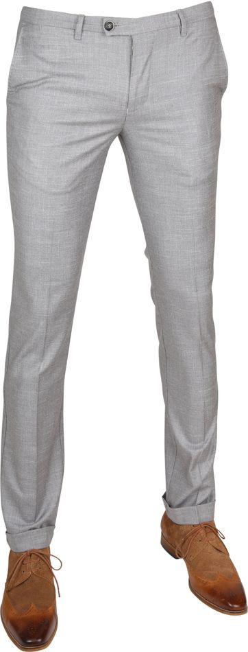 Suitable Pantalon Pisa Melange Grey