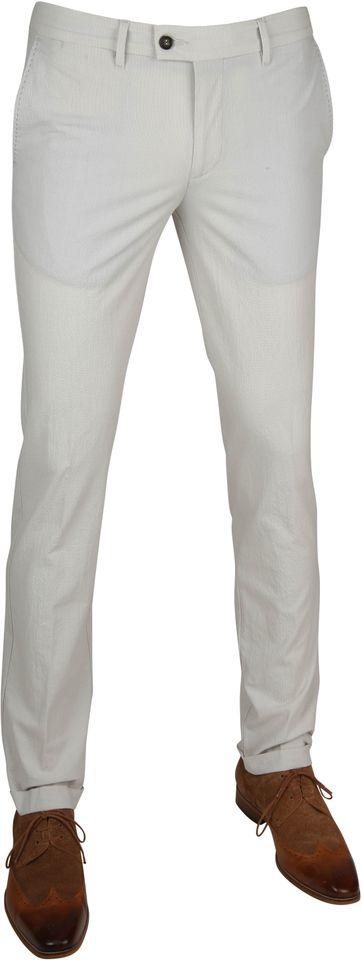 Suitable Pantalon Pisa Melange Grijs