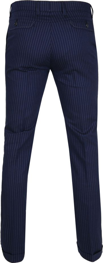 Suitable Pantalon Pisa Strepen Navy