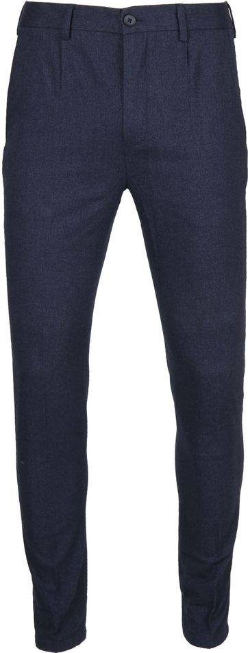 Suitable Pantalon Travis Donkerblauw