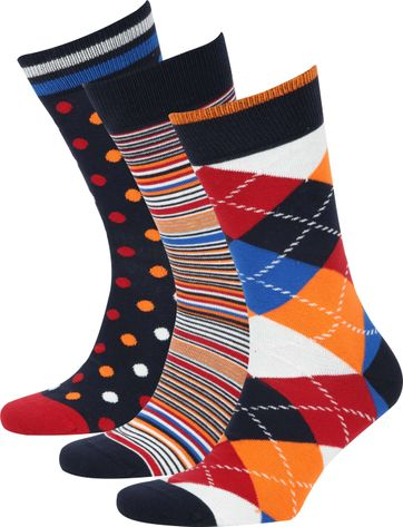 Suitable Pattern Socks 3-Pack