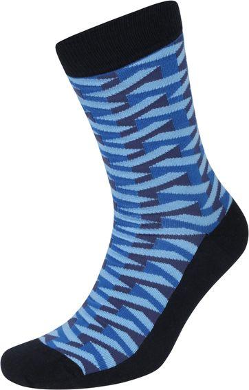 Suitable Pattern Socks 3D Navy