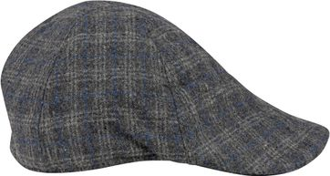 Suitable Peaky Cap Gewebt Karo Grau