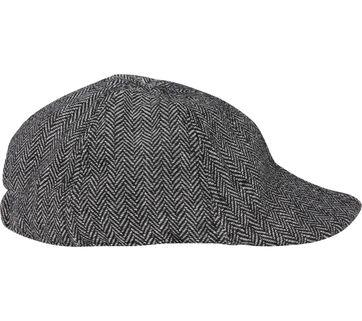 Suitable Peaky Cap Geweven Zwart