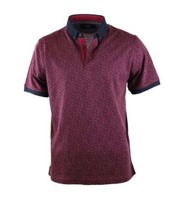 Suitable Polo Bordeaux Print