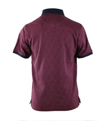 Detail Suitable Polo Bordeaux Print