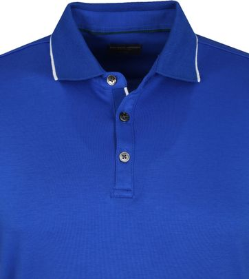 Suitable Polo Liquid Jersey Blauw
