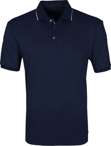 Suitable Polo Liquid Jersey Donkerblauw