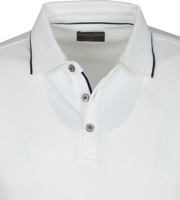 Suitable Polo Liquid Jersey Wit