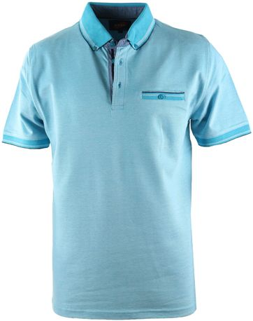 Suitable Polo Oxford Aqua
