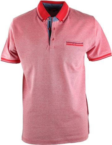 Suitable Polo Oxford Red